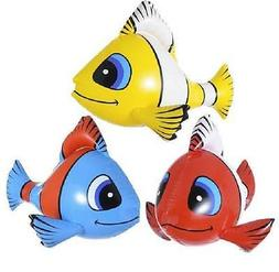 1 x Yellow Inflatable Tropical Fish 60cm Fancy Dress Party P