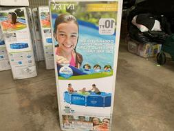 """Intex 10' x 30"""" Metal Frame Above Ground Pool with Filter Pu"""