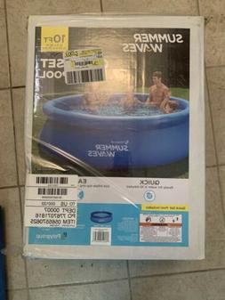 """Summer Waves 10'x30""""Quick Set Inflatable Above Ground Family"""