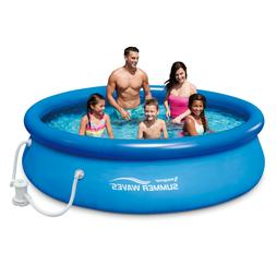 """Summer Waves 10'x30"""" Quick Set Inflatable Ring Above Ground"""