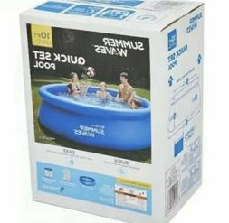 """Inflatable Above Ground Swimming Pool 10'x30"""" Kids Outdoor S"""