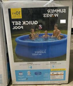 """Summer Waves 10'x30""""Quick Set Inflatable Ring Above Ground P"""
