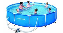 Bestway 10ft x 30 inch Steel Pro Frame Above Ground Swimming