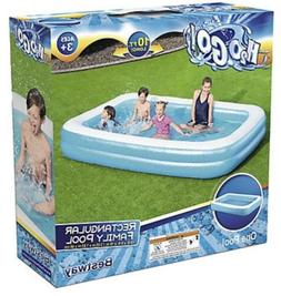 "Bestway 10'X 6'X 18"" H2O GO 10 Ft Inflatable Pool Delu"