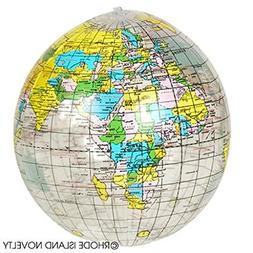 12 Clear Educational Geography Globes Inflatable Beach BAll