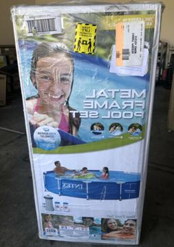 *FREE SHIP* INTEX 12ft x 30in Metal Frame Above Ground Pool