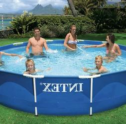 "Intex 12' X 30"" Prism Metal Frame Swimming Pool with 530 GPH"