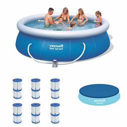 Bestway 12ft x 36in Inflatable Pool w/ Debris Cover & Type V
