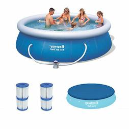 "Bestway 12' x 36"" Inflatable Pool + Debris Cover + Type V/K"