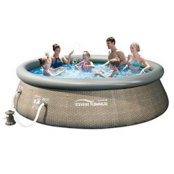 Summer Waves 12ft x 36in Above Ground Inflatable Outdoor Swi