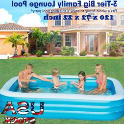 120*72 Inflatable Pool, Blow Up Family Full-Sized Pool for K