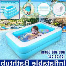"120""x72"" Family Swimming Pool Garden Summer Inflatable Kids"