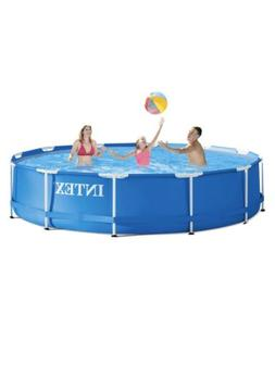 Intex 12ft x 30in Metal Frame Pool with Filter Pump Above Gr