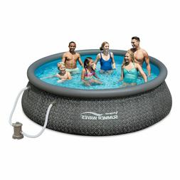 Summer Waves 12ft x 36in Quick Set Inflatable Round Swimming
