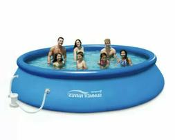 "Summer Waves 15' x 36"" Quick Set Inflatable Above Ground Poo"