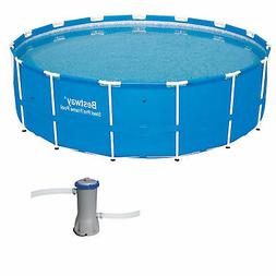 Bestway 15 x 4 Ft Steel Pro Frame Above Ground Pool w/Cartri