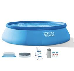 "Intex 15' x 42"" Inflatable Easy Set Swimming Pool and Debris"