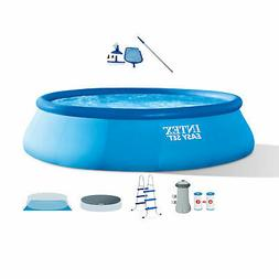 "Intex 15' x 42"" Inflatable Swimming Pool w/ Ladder, Cover, P"