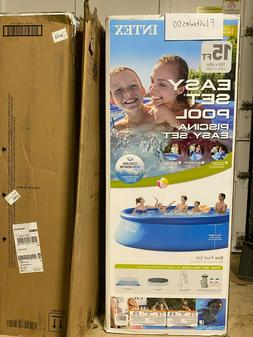 "Intex 15' X 48"" Inflatable Easy set Above Ground Pool Set W/"