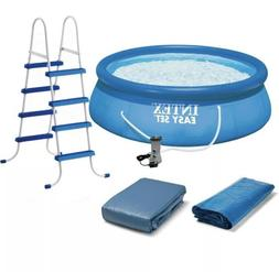 """Intex 15' x 48"""" Inflatable Easy Set Above Ground Swimming Po"""