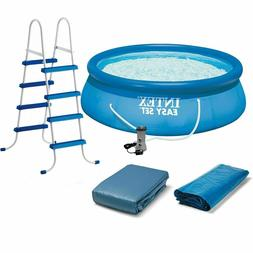 "Intex 15' x 42"" Inflatable Easy Set Swimming Pool w/ Ladder,"