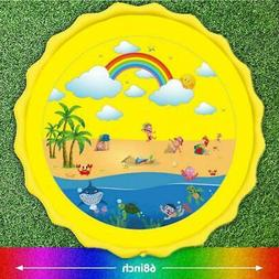 Sprinkler Splash Play Mat Pad Inflatable Outside Water Toy P
