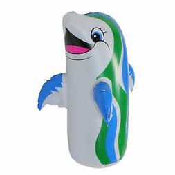 "Swim Central 18"" Water Sports Inflatable Dancing Dolphin Poo"