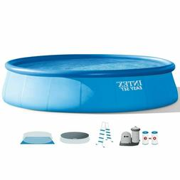 "Intex 18' x 48"" Inflatable Easy Set Above Ground Swimming Po"