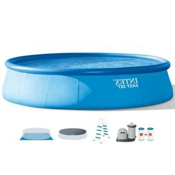 "Intex 18'x48"" Inflatable Easy Set Above Ground Pool with Pum"