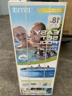 Intex 18ft x 48in Inflatable Easy Set Ground Swimming Pool P