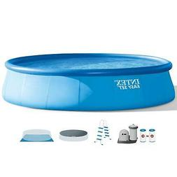 Intex 18Ft x 48In Inflatable Round Outdoor Above Ground Swim