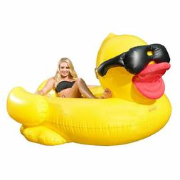 Derby Duck Inflatable 2 Person Pool Float Chaise Lounge Wate
