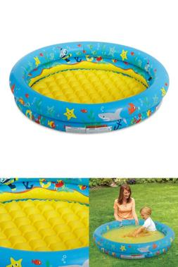 Summer Waves 2-Ring Inflatable Baby Swimming Pool, Blue