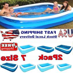 2x Large Family Swimming Pool Thick Inflatable Kid Outdoor A