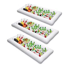 3 Packs Inflatable Pool Table Serving Bar - Large Buffet Tra
