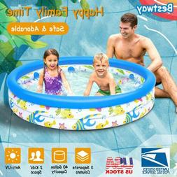 "48""x10"" Kids Inflatable Swimming Pool Children Instant Water"