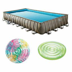 """Summer Waves 32' x 16' x 52"""" Pool Set + Two Inflatable S"""