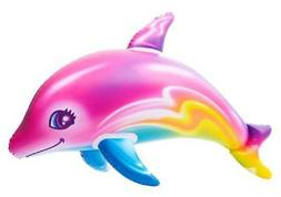 "36"" COLORFUL Rainbow Dolphin Inflate Pool Luau Beach Birthda"