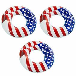 "Swimline 36"" Inflatable Patriotic American Flag Swimming Poo"