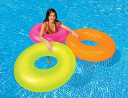 """Intex 36"""" Neon Frost Tube Inflatable Swimming Pool Float Raf"""