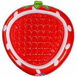 Pool Central 37IN Red Inflatable Strawberry Kiddie Swimming