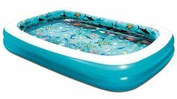"Summer Waves 103""x69""x18""  3D Rectangular Family Pool with 1"