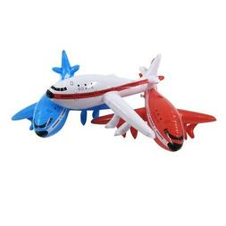 3pc Inflatable Airplane Set Swim Pool Water Float Blow Toy F