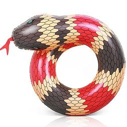 Coogam 40'' 3D Snake Swim Ring Inflatable Pool Float Color R
