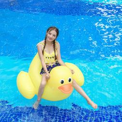 43x39 inch inflatable float rubber duck island
