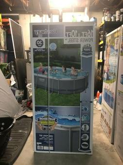 """Bestway 56655E 16'x10'x42"""" Oval Frame Swimming Pool Set with"""