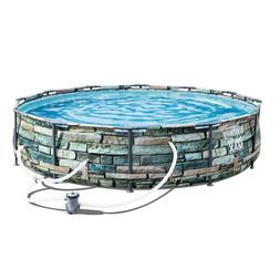 Bestway 56817E 12' Steel Pro Max Above Ground Swimming Pool