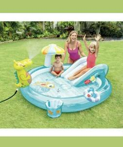 Intex 57165EP Gator Outdoor Inflatable Kiddie Pool Water Pla