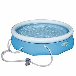 Bestway 57269E 10 ft Wide x 30 in Deep Fast Set Pool Above G