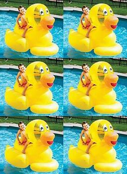 6) Swimline 9062 Inflatable Swimming Pool Giant Ducky Ride-O